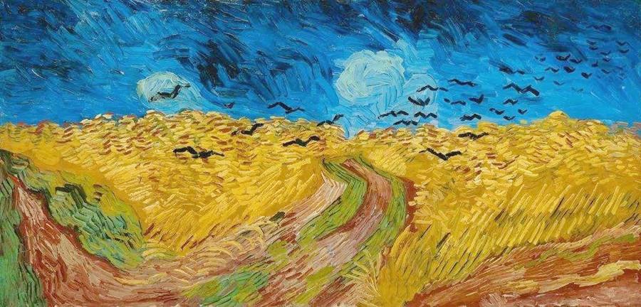 《有乌鸦的麦田》